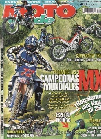 REVISTA MOTO VERDE Nº 281 AÑO 2001. PRUEBA: HUSQVARNA TE 250. HUSQVARNA TE 400. COMPARATIVA: BETA RE (Coches y Motocicletas - Revistas de Motos y Motocicletas)
