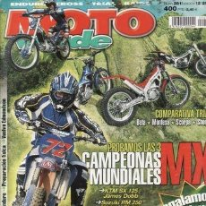 Coches y Motocicletas: REVISTA MOTO VERDE Nº 281 AÑO 2001. PRUEBA: HUSQVARNA TE 250. HUSQVARNA TE 400. COMPARATIVA: BETA RE. Lote 113341299