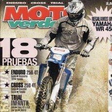 Coches y Motocicletas: REVISTA MOTO VERDE Nº 318 AÑO 2005. COMPARATIVA: HONDA CRF 250 X, HUSQVARNA TE 250, TM 250 ENDURO Y. Lote 36813971