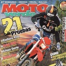 Coches y Motocicletas: REVISTA MOTO VERDE Nº 328 AÑO 2005. PRUEBA: HONDA CRF 250. COMP: BETA RR 450, HUSQVARNA TE 450 Y. Lote 36814552