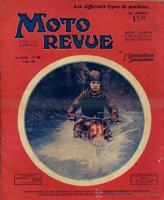 MOTO REVUE 9 MAI 1931 (Coches y Motocicletas - Revistas de Motos y Motocicletas)
