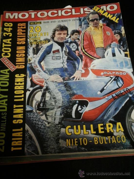 MOTOCICLISMO Nº 450 - MAR 1976 - MONTESA 348 / INDOOR TRIAL / GIMSON SKIPPER (Coches y Motocicletas - Revistas de Motos y Motocicletas)