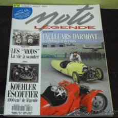 Coches y Motocicletas: MOTO LEGENDE Nº 16 - CYCLE CARS DARMONT - SPECIAL LES MODS - YAMAHA SR 500 -. Lote 36930742