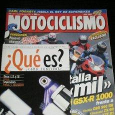 Coches y Motocicletas: MOTOCICLISMO Nº 1717 - ENE 2001 - SUZUKI GSX R / HONDA CBR 900 RR / YAMAHA YZF R1 / KAWASAKI ZX 9R. Lote 217850247