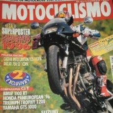 Coches y Motocicletas: MOTOCICLISMO Nº 1465 - MAR 1996 - SUZUKI BANDIT 1200 / BMW R 1100 RT / HONDA ST 1100 / HONDA HORNET . Lote 36964184