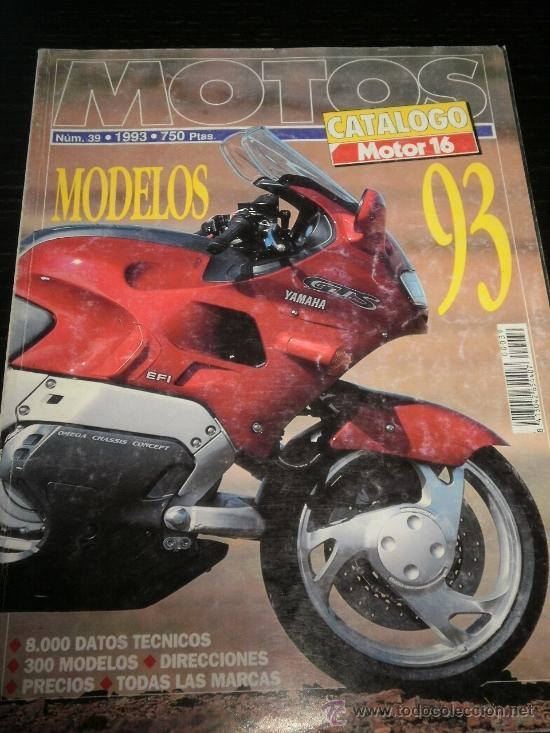 MOTO CATALOGO ANUAL MOTOR 16 - AÑO 93 - Nº39 - BMW /KAWASAKI /HONDA /SUZUKI /BIMOTA/NO MOTOCICLISMO (Coches y Motocicletas - Revistas de Motos y Motocicletas)
