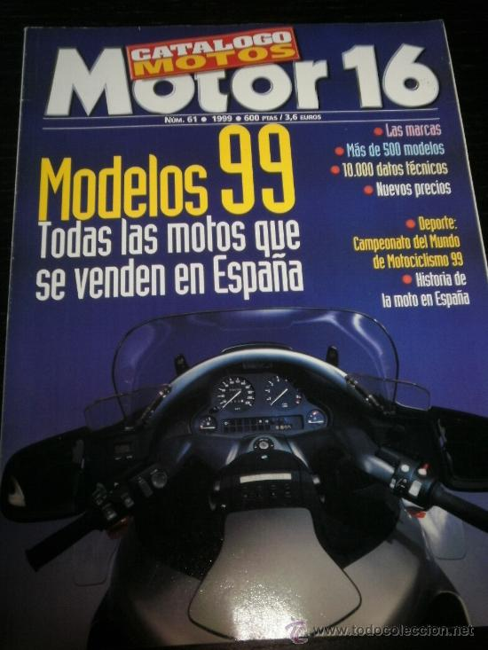 MOTO CATALOGO ANUAL MOTOR 16 - AÑO 99 - Nº61 - BMW /KAWASAKI /HONDA /SUZUKI /BIMOTA/NO MOTOCICLISMO (Coches y Motocicletas - Revistas de Motos y Motocicletas)