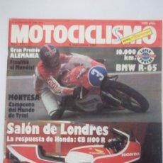 Coches y Motocicletas: MOTOCICLISMO 671 6/9/80 BMW R 65, MONTESA COTA 123, SWM 315 GTS, HONDA CB 1100 R. Lote 37186417