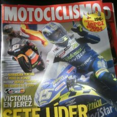 Coches y Motocicletas: MOTOCICLISMO Nº 1889 - MAYO 2004 - DUCATI MONSTER 800 / HONDA CB 600 F / SUZUKI SV 650 / YAMAHA FZ6. Lote 217850598