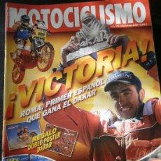 Coches y Motocicletas: MOTOCICLISMO Nº 1874 - ENE 2004 - DOBLE POSTER DAKAR / NANI ROMA / BMW F 650 GS / TRIUMPH DAYTONA. Lote 245709795