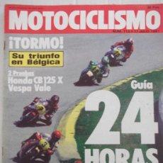 Coches y Motocicletas: MOTOCICLISMO 713 11/7/81 HONDA CB 125 X, VESPA VALE. Lote 37256421