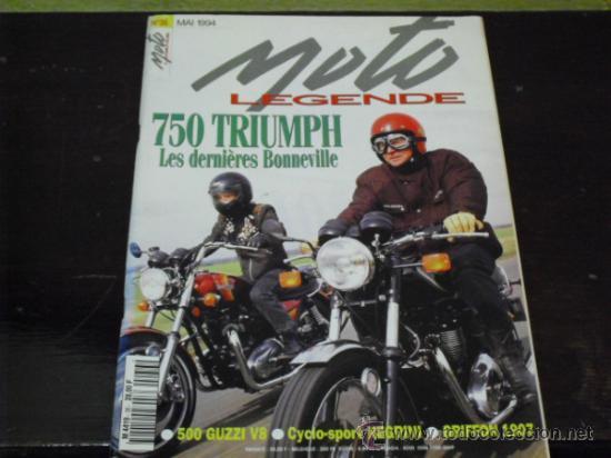 MOTO LEGENDE Nº 36 - TRIUMPH BONNEVILLE 750 - GUZZI V8 500 - GRIFFON 1907 - (Coches y Motocicletas - Revistas de Motos y Motocicletas)