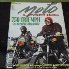 Coches y Motocicletas: MOTO LEGENDE Nº 36 - TRIUMPH BONNEVILLE 750 - GUZZI V8 500 - GRIFFON 1907 -. Lote 37299081