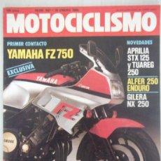 Coches y Motocicletas: MOTOCICLISMO 887 26/01/85 APRILIA STX 125 Y TUAREG 250,ALFER ENDURO 250 YAMAHA FZ 750 GILERA NX 250. Lote 37859544