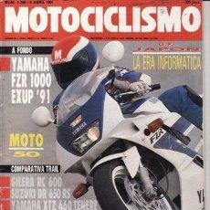 Coches y Motocicletas: REVISTA MOTOCICLISMO Nº 1206 AÑO 1991. PRU: YAMAHA FZR 1000. YAMAHA WR 250. COMP: YAMAHA XTZ 660.. Lote 37548395