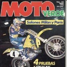 Coches y Motocicletas: REVISTA MOTO VERDE Nº 138 AÑO 1990. PRUEBA: MONTESA COTA 335 T. KTM 125 MXC. YAMAHA 250 TDR.. Lote 221551208