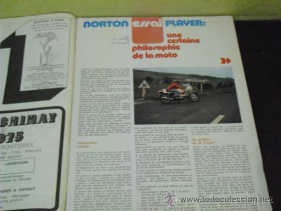 Coches y Motocicletas: MOTO REVUE Nº 2221 - AÑO 1975 - PRUEBA NORTON PLAYER - 6 DIAS ESCOCIA MC.ANDREWS- GP ITALIA - - Foto 6 - 38481215