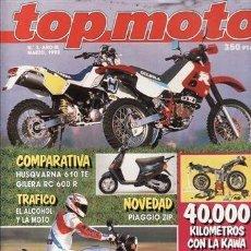 Coches y Motocicletas: REVISTA TOP MOTO Nº 3-III AÑO 1992. PRUEBA: KAWASAKI ZZR 1100. APRILIA CLIMBER 280 R. BULTACO TSS. H. Lote 38599821
