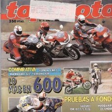 Voitures et Motocyclettes: REVISTA TOP MOTO Nº 6-III AÑO 1992. PRUEBA: SUZUKI 800 BIG. DERBI VIVO. GUZZI QUOTA. ISO 200. COMPAR. Lote 38600095
