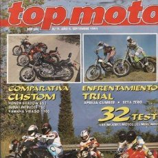 Voitures et Motocyclettes: REVISTA TOP MOTO Nº 9-II AÑO 1991. PRUEBA: SUZUK RGV 250 GAMMA. COMPARATIVA: BMW K 75, DUCATI 750 SS. Lote 90192227