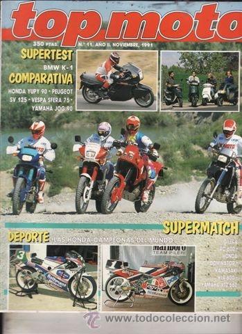 REVISTA TOP MOTO Nº 11-II AÑO 1991. PRU: HONDA NR 750.BMW K-1.COMP: GILERA RC 600, KAWASALO KLR 600. (Coches y Motocicletas - Revistas de Motos y Motocicletas)