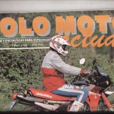 Coches y Motocicletas: REVISTA SOLO MOTO ACTUAL Nº 629 AÑO 1988. PRUEBA: GILERA NEBRASKA RRT 125. GAS GAS 330. . Lote 38796886