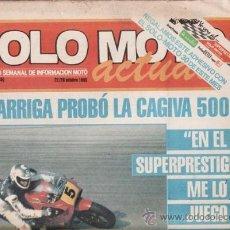Coches y Motocicletas: REVISTA SOLO MOTO ACTUAL Nº 502 AÑO 1985. PRUEBA: YAMAHA RD 80 LC. SUZUKI GSX 400 E. . Lote 38798842