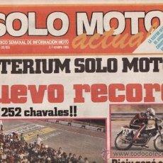 Coches y Motocicletas: REVISTA SOLO MOTO ACTUAL Nº 499 AÑO 1985. PRUEBA: MERLIN TRAIL DG 11. . Lote 38801941