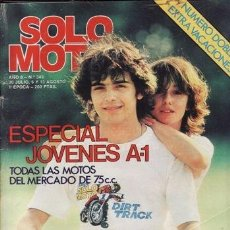 Coches y Motocicletas: REVISTA SOLO MOTO ACTUAL Nº 343 AÑO 1982. CATALOGO DE LAS MOTOS DE 75. . Lote 38808854
