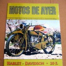 Coches y Motocicletas: REVISTA MOTOS DE AYER Nº 1. Lote 152665092