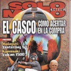 Coches y Motocicletas: REVISTA SOLO MOTO ACTUAL Nº 1157 AÑO 1998. PRUEBA: KAWASAKI VN 1500 CLASSIC TOURER. MALAGUTI YESTERD. Lote 38849624