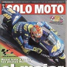 Coches y Motocicletas: REVISTA SOLO MOTO ACTUAL Nº 1451 AÑO 2004. PRUEBA: SUZUKI GS 500 F. COMPARATIVA: YAMAHA FZ6 Y HONDA . Lote 105801295