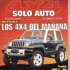 Coches y Motocicletas: REVISTA SOLO AUTO 4X4 Nº 161 AÑO 1997. PRUEBA: TOYOTA LAND CRUISER 90 TD GX. TOYOTA LAND CRUISER 95 . Lote 38978735