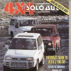 Coches y Motocicletas: REVISTA SOLO AUTO 4X4 Nº 152 AÑO 1996. PRUEBA: TOYOTA LAND CRUISER HDJ 80 VX. CHEVROLET TAHOE LT 6.5. Lote 38979147