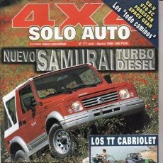 Coches y Motocicletas: REVISTA SOLO AUTO 4X4 Nº 177 AÑO 1998. PRUEBA: OPEL MONTEREY 3.0 DETI. TATA GRAN TELCOSPORT TDI 4X4.. Lote 80702310