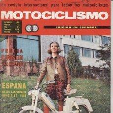 Coches y Motocicletas: REVISTA MOTOCICLISMO Nº DICIEMBRE AÑO 1968. PRUEBA: GIMSON