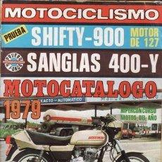 Coches y Motocicletas: REVISTA MOTOCICLISMO Nº 592 AÑO 1979. PRUEBA: SANGLAS 400 Y. SHIFTY 900. MOTOCATALOGO. . Lote 55038227