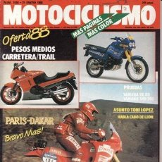 Coches y Motocicletas: REVISTA MOTOCICLISMO Nº 1039 AÑO 1988. PRUEBA: YAMAHA TZR 80. YAMAHA SDR 200. . Lote 39216150