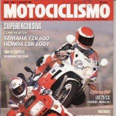 Coches y Motocicletas: REVISTA MOTOCICLISMO Nº 1097 AÑO 1989. PRUEBA: YAMAHA TZR 250. COMP: YAMAHA FZR 600 Y HONDA CBR 600.. Lote 76867515