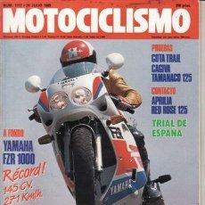 Coches y Motocicletas: REVISTA MOTOCICLISMO Nº 1117 AÑO 1989. PRUEBA: YAMAHA FZR 1000 EXUP. MONTESA COTA TRAIL 335.. Lote 159853686