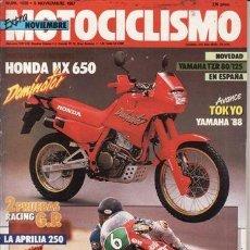 Coches y Motocicletas: REVISTA MOTOCICLISMO Nº 1028 AÑO 1987. PRUEBA: APRILIA AF 1 250. HONDA NX 650 DOMINATOR.. Lote 40713778