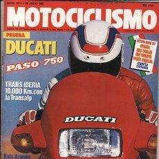 Coches y Motocicletas: REVISTA MOTOCICLISMO Nº 1014 AÑO 1987. PRUEBA: DUCATI PASO 750. HONDA 600 TRANSALP. . Lote 87589130