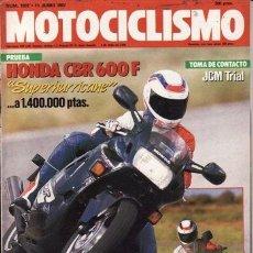 Coches y Motocicletas: REVISTA MOTOCICLISMO Nº 1007 AÑO 1987. PRUEBA: HONDA CBR 600 F. YAMAHA FZ 750. JCM TRIAL. . Lote 129307264