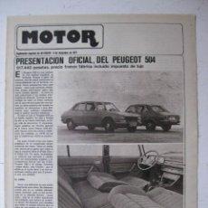 Coches y Motocicletas: MOTOR - SUPLEMENTO ESPECIAL DE AS COLOR MOTOS Y COCHES - AÑO 1977 - 6 DICIEMBRE. Lote 39312369