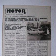 Coches y Motocicletas: MOTOR - SUPLEMENTO ESPECIAL DE AS COLOR MOTOS Y COCHES - AÑO 1977 - 20 DICIEMBRE. Lote 39312421