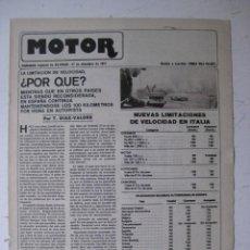Coches y Motocicletas: MOTOR - SUPLEMENTO ESPECIAL DE AS COLOR MOTOS Y COCHES - AÑO 1977 - 27 DICIEMBRE. Lote 39312433