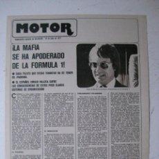Coches y Motocicletas: MOTOR - SUPLEMENTO ESPECIAL DE AS COLOR MOTOS Y COCHES - AÑO 1977 - 19 JULIO. Lote 39312447