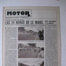 Coches y Motocicletas: MOTOR - SUPLEMENTO ESPECIAL DE AS COLOR MOTOS Y COCHES - AÑO 1977 - 21 JUNIO. Lote 39312468