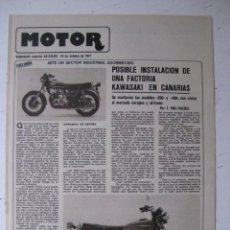 Coches y Motocicletas: MOTOR - SUPLEMENTO ESPECIAL DE AS COLOR MOTOS Y COCHES - AÑO 1977 - 25 OCTUBRE. Lote 39312486