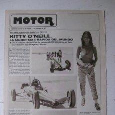 Coches y Motocicletas: MOTOR - SUPLEMENTO ESPECIAL DE AS COLOR MOTOS Y COCHES - AÑO 1977 - 1 NOVIEMBRE. Lote 39312500